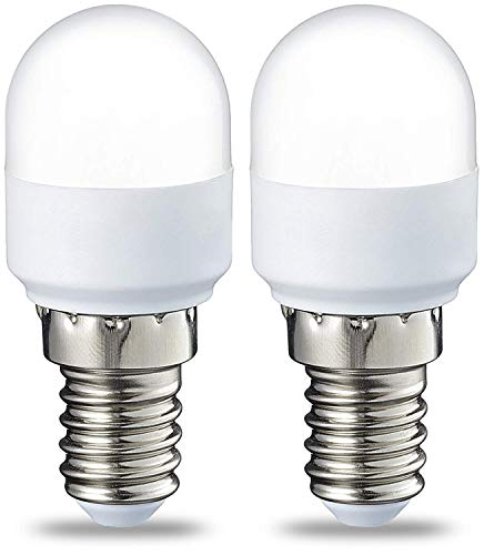 AmazonBasics Bombilla LED T25 E14, 1.7 W (equivalente a 15W), Blanco Cálido, 2 unidades
