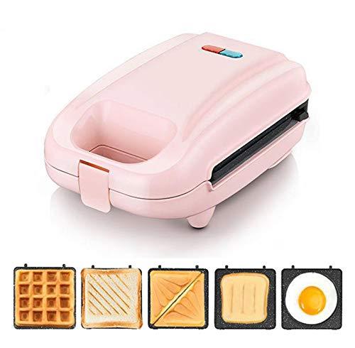 Gofrera Electricidad Sandwichera Waffle Maker Rosquillas Pastel DIY Multifunción Grill Plancha Desmontable...