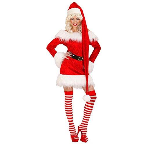 NET TOYS Berretto da Babbo Natale Santa Clausextra-Lungo - Cappello Natalizio - 150cm