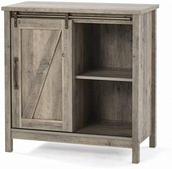 Homes Gardens Modern Farmhouse Accent Storage Cabinet Rustic Gray Finish