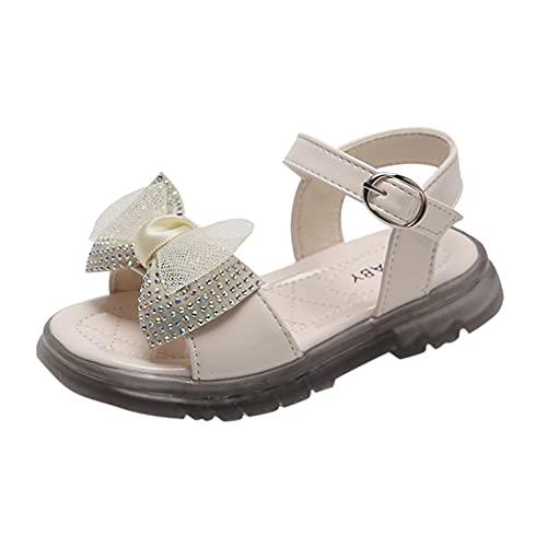 YWLINK Sandalias NiñOs,Zapatos De Princesa Con Lazo,Zapatos De Playa,Sandalias,Zapatillas Antideslizante Fondo Blando Casuales,Sandalias Planas De Verano,Sandalias Deportivas