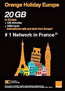 Orange Holiday Europe New Package – 20GB Internet Data in 4G/LTE + 120 mn + 1000 Texts in 30 Countries in Europe (Renewed)