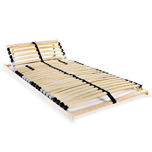 Tidyard Lattenbodem Vervanging van Bedlatten Voor Eenpersoonsbed or Tweepersoonsbed met 28 Latten 7 Zones 80x200 cm