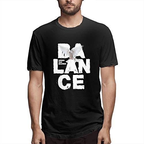 huatongxin Armin Van Buuren Balance Camiseta de Manga Corta para Adultos Camiseta de Estilo Casual para Hombre