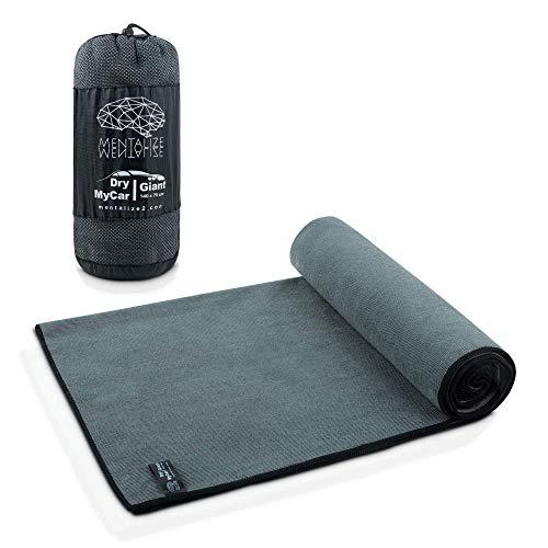 MENTALIZE® DryMyCar - Toallas Microfibra para Secado Rápido en Sólo 90 Segundos para Coches, Giant 140x70cm, Muy Absorbente, para Lavados, Disponible en Pack de 2 (1 x DryMyCar Giant)