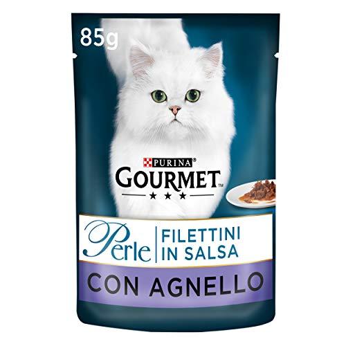 PURINA GOURMET PERLE Lot de 24 sachets de 85 g pour Chat, en Sauce, avec Anneau, pour Chat, 24 x 85 g.