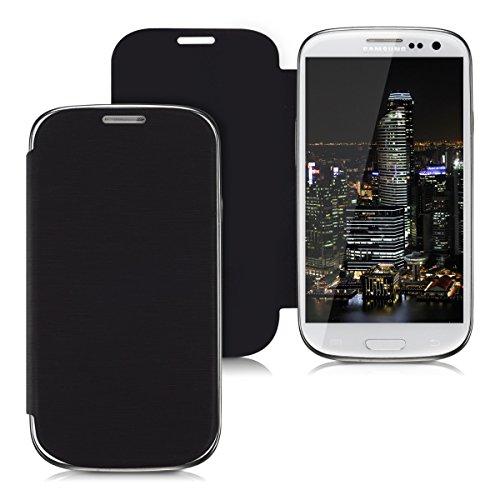 kwmobile Flip Hülle Hülle kompatibel mit Samsung Galaxy S3 / S3 Neo - Aufklappbare Cover Schutzhülle Tasche in Schwarz