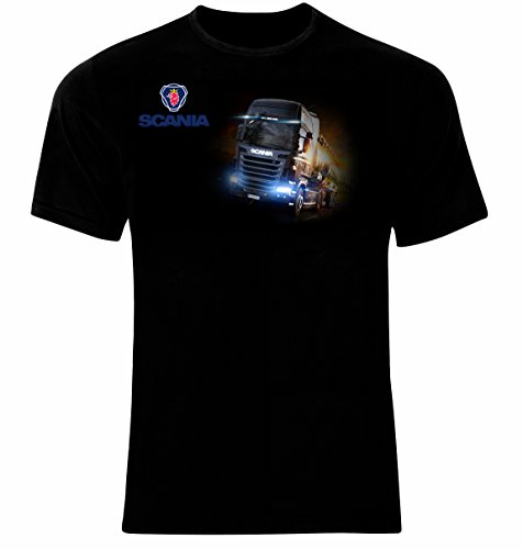 Scania Truck Drivers Logo LKW Männer Printed T-Shirt (XXL)