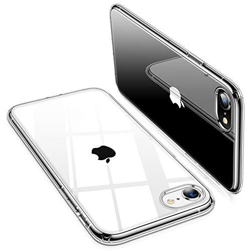 TORRAS 全透明 iPhone SE用 iPhone7 用 iPhone8 用 ケース 薄型 軽量 超耐衝撃 10倍黄変防止 ソフトtpu 画面レンズ保護 4.7インチ アイフォンSE用 アイフォン8用カバー クリスタル クリア Shiny Series