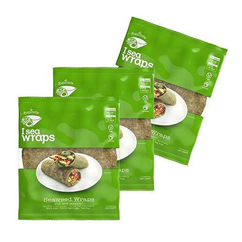 Seamore - Seaweed Wraps - 3 x 280g | 12 Wraps mit Algen | vegan und nachhaltig