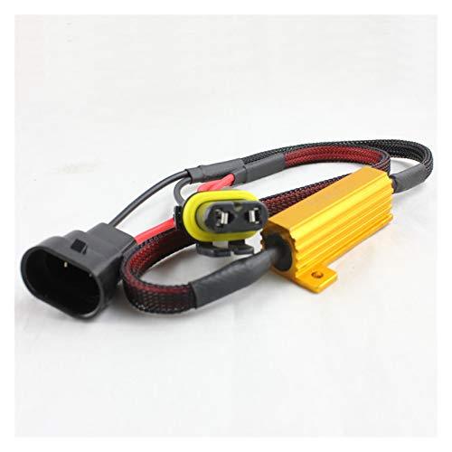 XINGFUQY Adaptador de decodificador LED H1 H3 H7 H8 H11 9005 9006 Cancelador de errores de la bombilla LED para la lámpara de la niebla del automóvil Error de resistencia de carga de la señal de la se