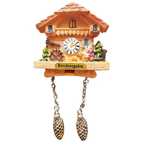 Ciffre Kuckucksuhr Magnet Polyresin Kühlschrank Beige Haus Familie - Berchtesgaden