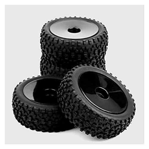 UJETML (H) Neumáticos RC Crawler 4pcs / Set 1/10 Buggy neumáticos Delantero y Trasero Rueda llanta 25026 + 27011 FIT HPI RC Off-Road Buggy Toys Toys Accesorios Neumáticos RC Slash 4x4 Neumáticos
