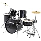 LAGRIMA 5 Piece Full Size Drum Set with Stand, Cymbals, Hi-Hat, Pedal, Adjustable Drum Stool and 2...