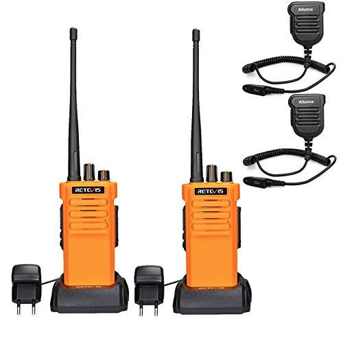 Retevis RT29 Walkie Talkie Largo Alcance, IP67 Impermeable, Batería 3200 mAh, Radio Recargable 2 Vías de Alta Potencia, Walkie Talkie para Adultos, Alarma de Emergencia VOX (2 Piezas)