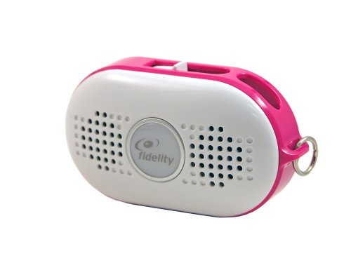 Fidelity Mist Plus Portable Speaker for all MP3 players-Pink, Standard Packaging