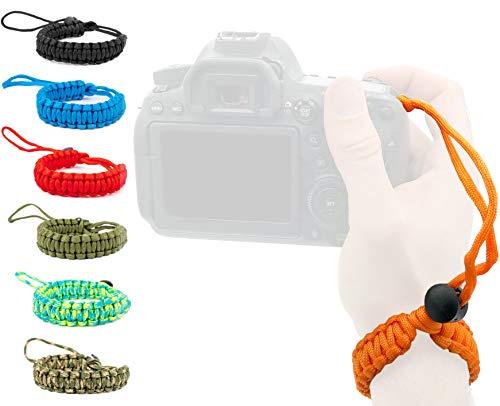 Lens-Aid Handschlaufe für Kamera: Paracord Wrist-Band zum Tragen am Handgelenk für DSLR, Canon, Nikon, Sony, Fujifilm, Olympus, Pentax etc.