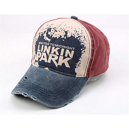 Baseballmütze Hochwertige Linkin Park Baseballmütze Denim Vintage Getragen Hip Hop Rapper Dj Bboy Tänzer Brief Verstellbare Kappe