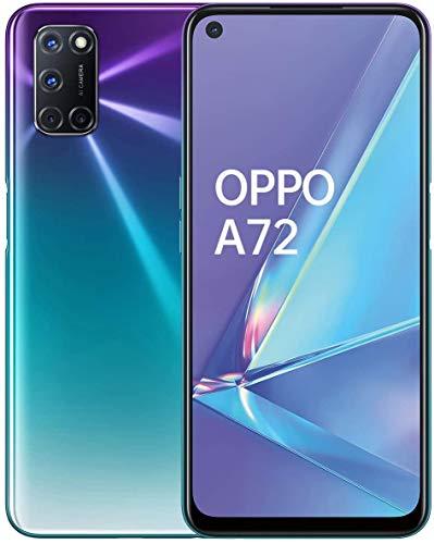 """OPPO A72 – Pantalla de 6.5"""" (FHD+, 4GB/128GB, Snapdragon 665, 5.000 mAh, cámara trasera 48MP+8MP+2MP+2MP, cámara frontal 16 MP, Android 10) Morado [Versión ES/PT]"""