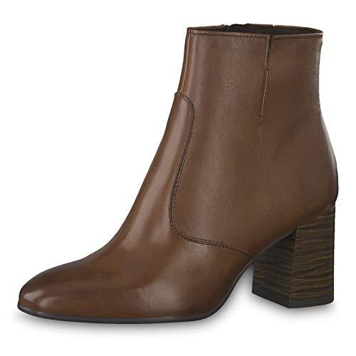 Tamaris Damen Stiefeletten 25076-23, Frauen Stiefelette, halbstiefel Damenstiefelette reißverschluss Damen Frauen weibliche,Cognac,40 EU / 6.5 UK