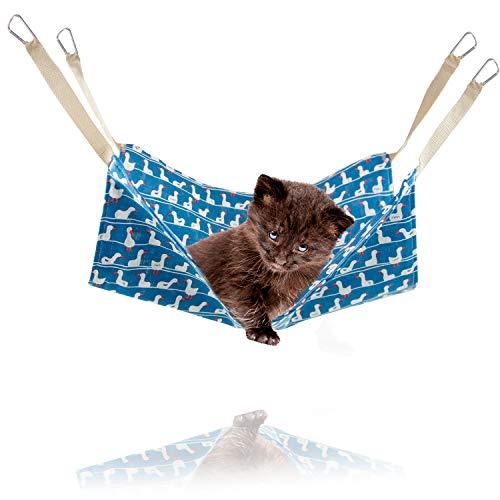 猫 ハンモック ペットハンモック 「 選べる5種類 47×47cm 耐荷重7kg 」 はんもっく ねこ フェレット 小動物 ペット用ハンモック ゲージ用 オールシーズン ハンモックベッド 猫用品 ペット用品 丸洗い可能 【N.M.JAPAN】 (Eタイプ)