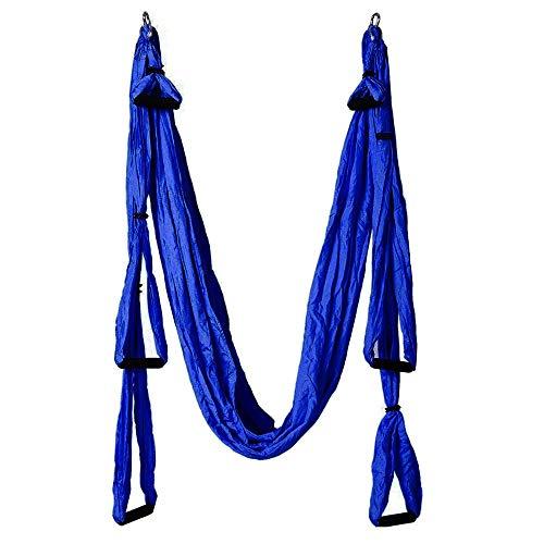 Pawaca Aerial yoga Swing,ultra Strong yoga amaca con paracadute tessuto e manici,antenna kit trapezio,grande set di inversione Air Fly Sling,amaca/trapezio per interni e esterni con salute
