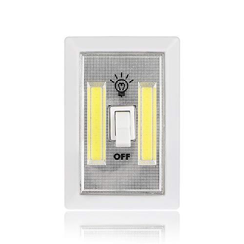 Interruptor de luces LED para armario, funciona con pilas, funciona con pilas, funciona con pilas, color blanco