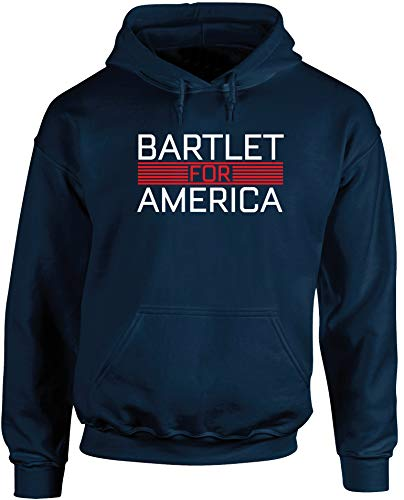 Hippowarehouse Bartlet for America Unisex Hoodie Hooded top (Specific Size Guide in Description) Navy Blue