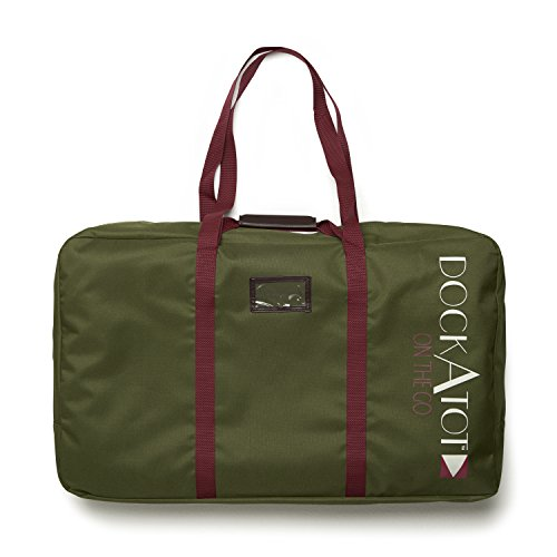DockATot Deluxe Transport Bag (Moss Green) - The Perfect Travel Companion for Your DockATot