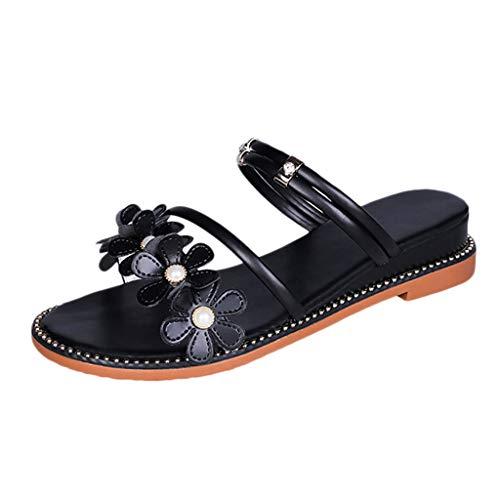 Clearance Sale ODRD Sandalen Shoes Sommer Frauen Wedges Strand Schuhe Casual Open Toe Hausschuhe Seaside Pearl Sandalen Schuhe Strandschuhe Freizeitschuhe Turnschuhe Hausschuhe Pumps Slipper