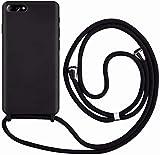 Funda con Cuerda para iPhone 7 Plus/8 Plus,Moda y Practico Carcasa Gel de sílice TPU Case Cover con Colgante/Cadena.