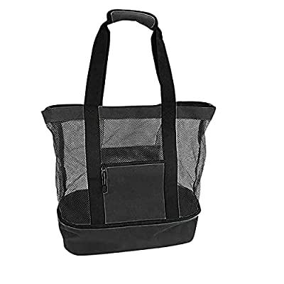 Amazon - Save 80%: Mesh Beach Tote Bag with Insulated Cooler Compartment, Picnic Bag w…