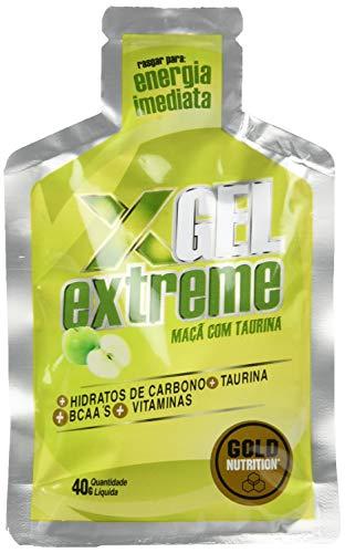 GoldNutrition Extreme Gel Suplemento Deportivo, Sabor Taurina y Fresa - Paquete de 24 x 40 gr - Total: 960 gr