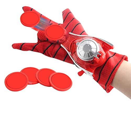 Guante de lanzador de Spiderman, lanzador de muñeca de lanzador de superhéroes, disfraz de cosplay guante de juguete para niños, regalo para niños, niñas y adolescentes