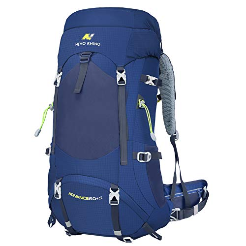 N NEVO RHINO Hiking Backpack, Internal Frame Hiking Backpack 40/50/60/65/80L, Moutain Climbing Backpack, Waterproof Camping Backpack Daypack for Women&Men