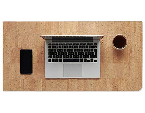 Hochwertige handgefertigte Korkleder-Schreibtischunterlage: Bio-Mauspad und -Schreibtischschutz für Büroarbeit und Spiele mit glatter Oberfläche (Natur)