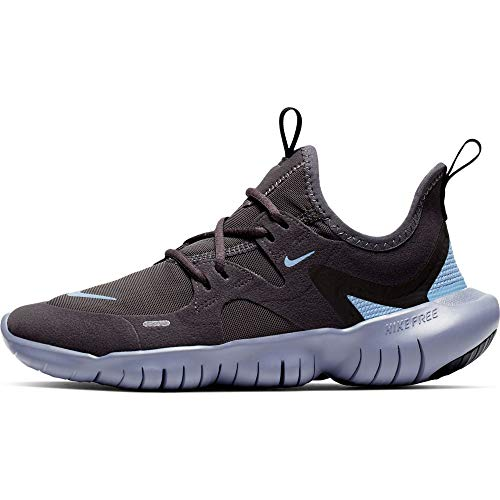 Nike Unisex Kinder Free Rn 5.0 (Gs) Sneaker, Thunder Grey Light Blue St, 39 EU