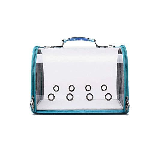 ZLSP Pet Carrier Bag out Travel Bolso for Mascotas Paquete for Perros Gato Bolsa Transparente for Gatos Transporte de Bolsas for Mascotas, 48x28x24.5cm (Color : Blue)