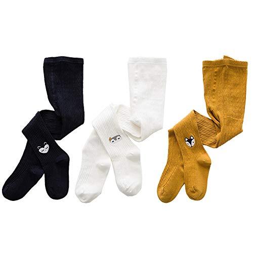 Dsaren Baby Strumpfhosen Mädchen Kinderstrumpfhosen Baby Strickstrumpfhose für Kinder Winter 3 Pack (M (3-5 Jahre))