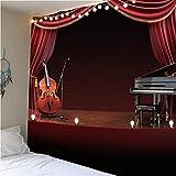 QWEFGDF Tapices de dormitorio Decoración de tapiz utilizada para decoración de fondo 100x150 cm Violonchelo y piano