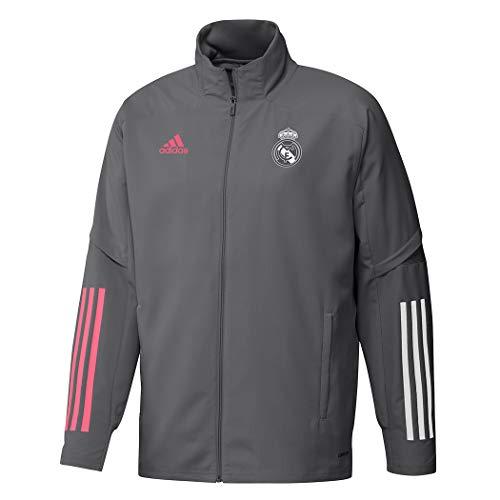 adidas Male Real Madrid Presentation Jacket, Grey , L