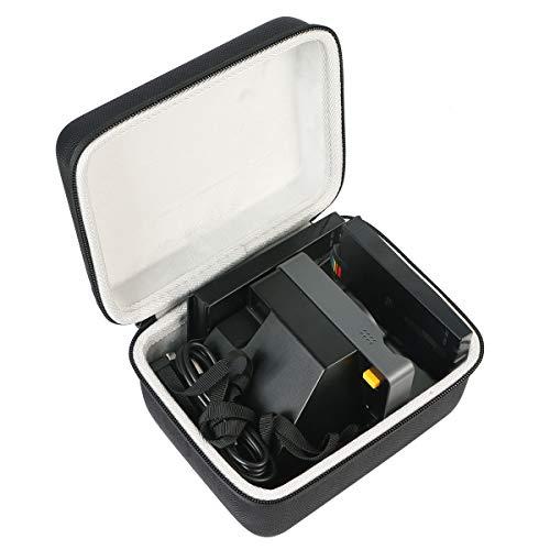 Khanka Hart Tasche Schutzhülle Für Polaroid Originals One Step 2/ OneStep+ Plus/Now I-Type ViewFinder Sofortbildkamera Etui Case. (Schwarzer Reißverschluss)