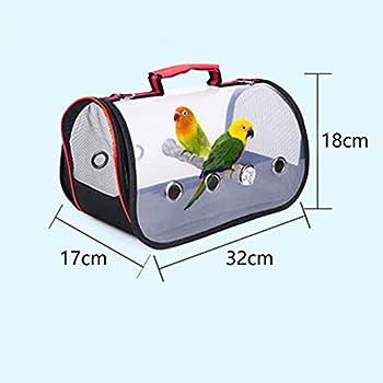 MOVKZACV Sac de voyage pour oiseaux et perroquets - Cage de transport transparente et respirante - Sac à dos léger et respirant