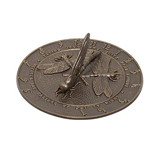 Whitehall Produkte Libelle Sonnenuhr, Französisch Bronze