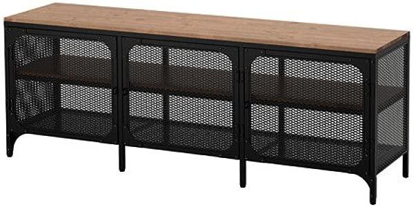 Ikea FJ LLBO TV Unit Black