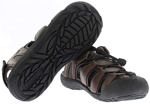 Khombu Sandal Men's Travis Active Sandal, Brown, Size 8.0