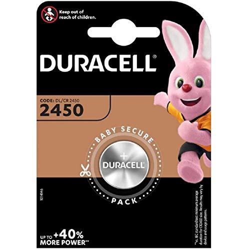Duracell CR2450 - Batteria a bottone, agli ioni di litio, 3 V, in confezione originale, 2 pezzI