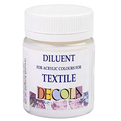 Decola | diluente per colori acrilici per tessuti | medium per acrilico per vestiti | diluente sintetico pensato appositamente per tessuti | boccetta richiudibile da 50mL | da Neva Palette