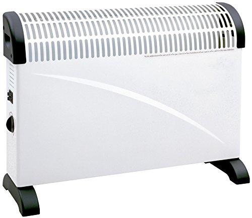 MT - Convector. 3 potencias: 750 w/1250w/2000w. termostato ajustable. proteccion contra sobrecalentamiento. montaje en pared o suelo. ventilador incorporado para mejor distribucion del aire caliente (