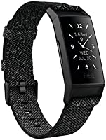 Fitbit Charge 4 Fitness and Activity Tracker with Built-in GPS, Heart Rate, Sleep & Swim Tracking, Black/Black, One Size...